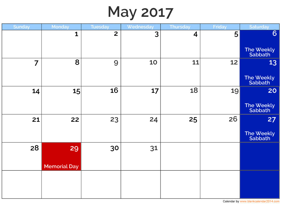 May 2017 Posted Holidays | nothingnewpress.com