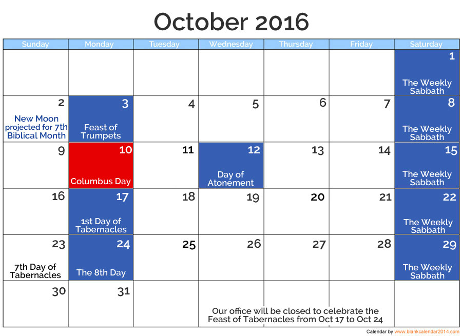 Oct 2016 Posted Holidays | nothingnewpress.com
