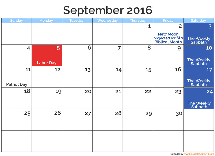 Sept 2016 posted holidays | nothingnewpress.com