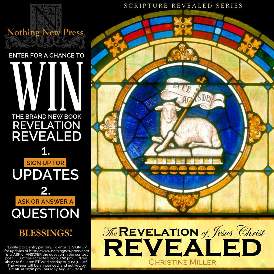 Revelation Revealed Giveaway   Nothing New Press www.nothingnewpress.com