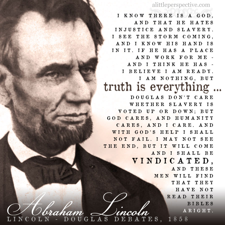 Abraham Lincoln, 1858 | alittleperspective.com